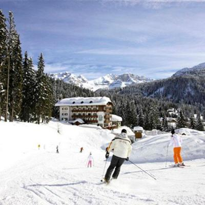 Pistes and ski lifts