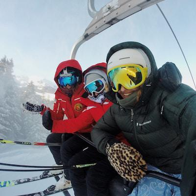 Skiing with your family